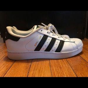 Adidas Superstar White Black Stripes